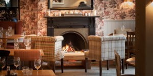 Cosy fire and relaxed seating