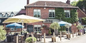 The Stag on the River pub and hotel in Godalming