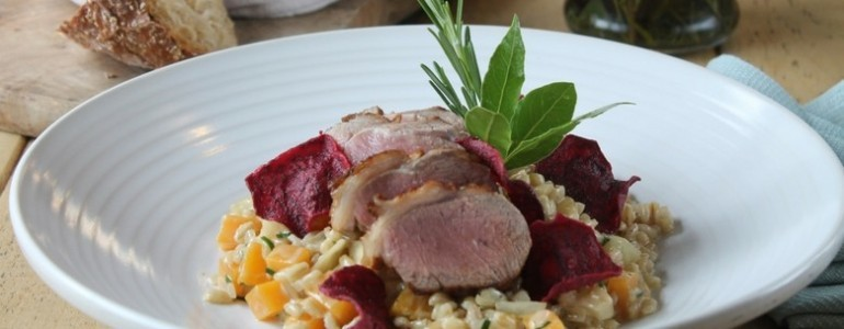 Spring Recipe: Rump of lamb with pearl barley risotto
