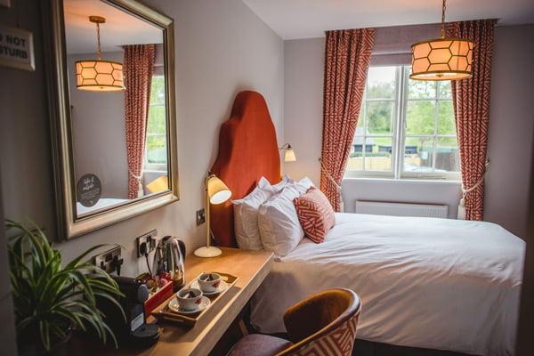 Riverside hotel room in Godalming